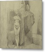 Statues Metal Print by Cynthia Harvey