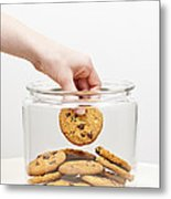 Stealing Cookies From The Cookie Jar Metal Print by Elena Elisseeva