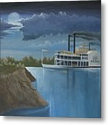 Steamboat On The Mississippi Metal Print by Stuart Swartz
