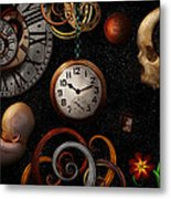 Steampunk - Abstract - The Beginning And End Metal Print by Mike Savad