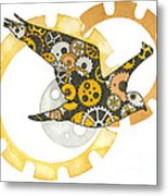 Steampunk Bird Metal Print by Nora Blansett