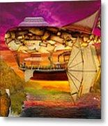 Steampunk - Blimp - Everlasting Wonder Metal Print by Mike Savad