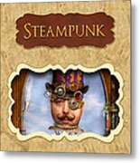 Steampunk Button Metal Print by Mike Savad
