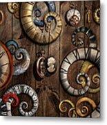 Steampunk - Clock - Time Machine Metal Print by Mike Savad