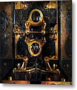 Steampunk - Electrical - The Power Meter Metal Print by Mike Savad