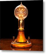 Steampunk - Electricity - Bright Ideas  Metal Print by Mike Savad