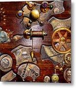 Steampunk - Gears - Reverse Engineering Metal Print by Mike Savad
