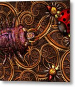 Steampunk - Insect - Itsy Bitsy Spiders Metal Print by Mike Savad