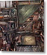 Steampunk - Machine - All The Bells And Whistles  Metal Print by Mike Savad