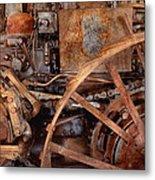 Steampunk - Machine - The Industrial Age Metal Print by Mike Savad