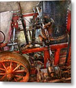 Steampunk - My Transportation Device Metal Print by Mike Savad