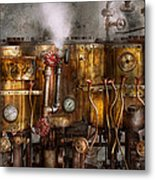 Steampunk - Plumbing - Distilation Apparatus  Metal Print by Mike Savad
