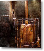 Steampunk - Powering The Modern Home Metal Print by Mike Savad