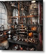 Steampunk - Room - Steampunk Studio Metal Print by Mike Savad