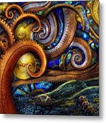 Steampunk - Starry Night Metal Print by Mike Savad