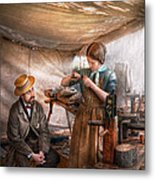 Steampunk - The Apprentice Metal Print by Mike Savad
