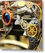 Steampunk - The Mask Metal Print by Paul Ward