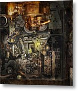 Steampunk - The Turret Computer  Metal Print by Mike Savad