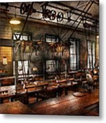 Steampunk - The Workshop Metal Print by Mike Savad