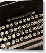 Steampunk - Typewriter - The Age Of Industry Metal Print by Paul Ward