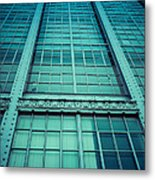Steel And Glass Metal Print by Edward Fielding