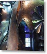 Steel Knight Metal Print by Ayse Deniz