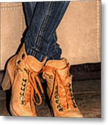 Steeping Out In Style Metal Print by Ester  Rogers