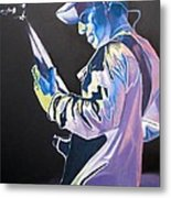 Stefan Lessard Colorful Full Band Series Metal Print by Joshua Morton