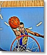 Steph Curry Metal Print by Florian Rodarte