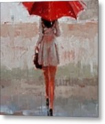 Stepping Out Metal Print by Laura Lee Zanghetti