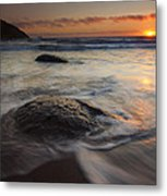 Stepping Stones Metal Print by Mike  Dawson