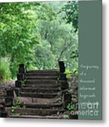 Steps And Lao Tzu Quote Metal Print by Heidi Hermes