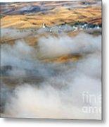 Steptoe Fog Clearing Metal Print by Mike  Dawson