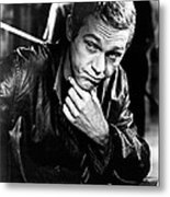 Steve Mcqueen Hand On Chin Metal Print by Retro Images Archive