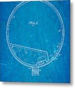 Stevens Roller Coaster Patent Art 1884 Blueprint Metal Print by Ian Monk