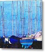Still In Storage North Muskegon Marina  Metal Print by Rosemarie E Seppala