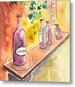 Still Life In Chianti In Italy Metal Print by Miki De Goodaboom