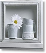 Still Life With A Wooden Box Metal Print by Krasimir Tolev