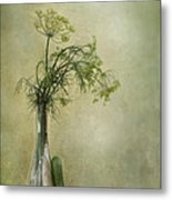 Still Life With Dill And A Cucumber Metal Print by Priska Wettstein
