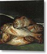 Still Life With Golden Bream Metal Print by Francisco De Goya