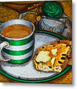 Still Life With Green Touring Bike Metal Print by Mark Howard Jones