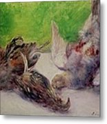 Still Life With Pheasants  Metal Print by Pierre Auguste Renoir