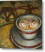 Still Life With Red Cruiser Bike Metal Print by Mark Howard Jones