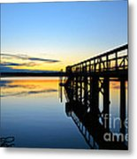 Stillness Metal Print by Kelly Nowak