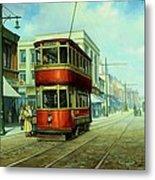 Stockport Tram. Metal Print by Mike  Jeffries