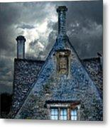 Stone Cottage In A Storm Metal Print by Jill Battaglia