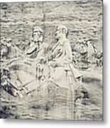 Stone Mountain Georgia Confederate Carving Metal Print by Lisa Russo