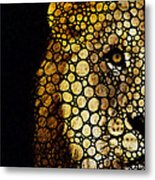 Stone Rock'd Lion - Sharon Cummings Metal Print by Sharon Cummings