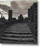 Stone Ruins At Old Liberty Park - Spokane Washington Metal Print by Daniel Hagerman