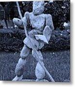 Stoneman In Cyan Metal Print by Rob Hans